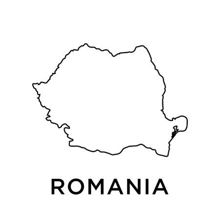 Romania map vector design template