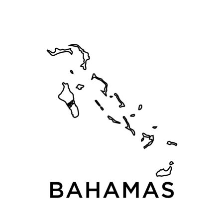 Bahamas map vector design template