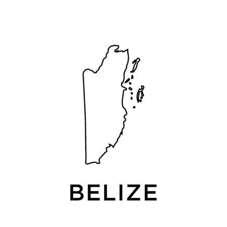 Belize map vector design template Ilustração