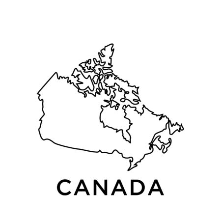 Canada map vector design template