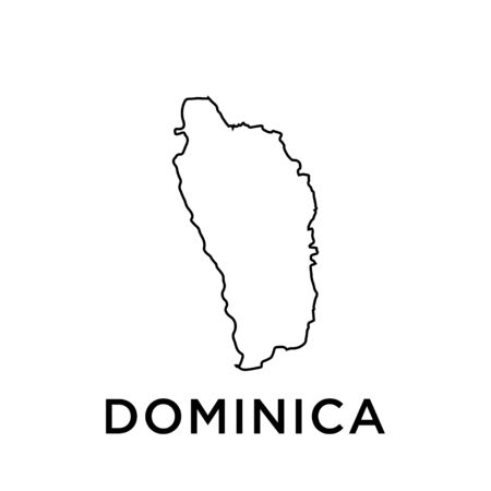 Dominica map vector design template