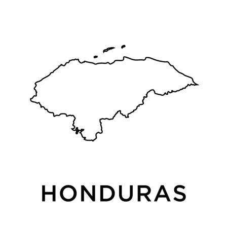 Honduras map vector design template Ilustração