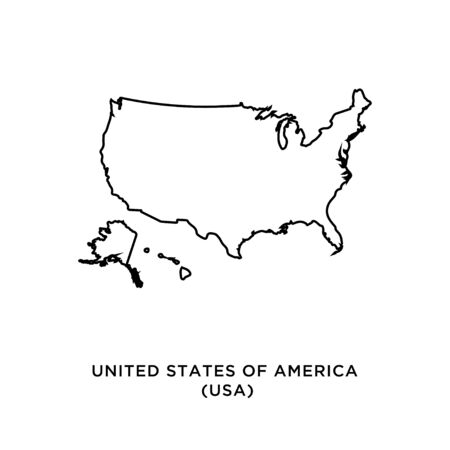 United States of America (USA) map vector design template