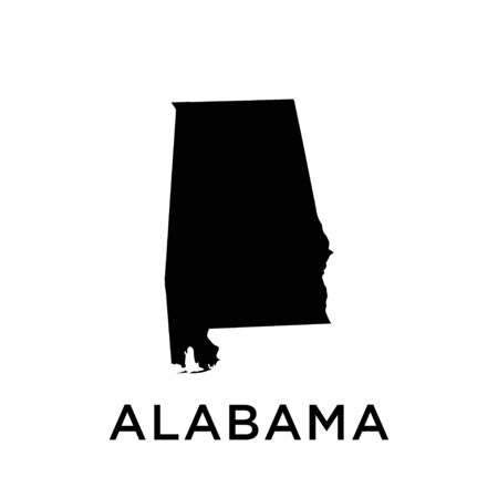 Alabama map vector design template