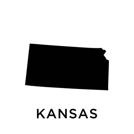 Kansas map vector design template