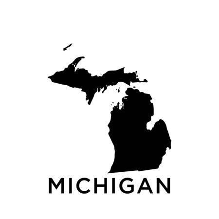 Michigan map vector design template