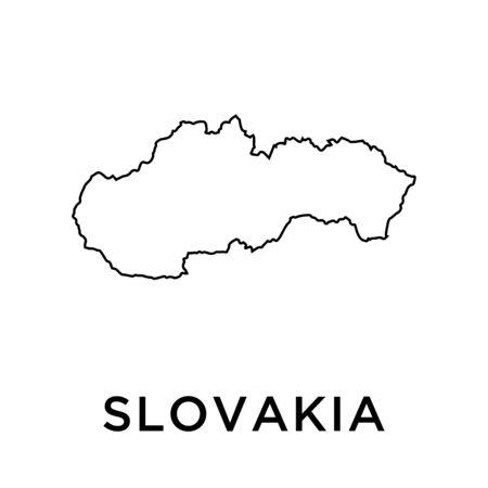 Slovakia map vector design template