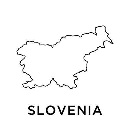Slovenia map vector design template