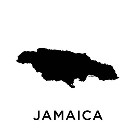 Jamaica map vector design template