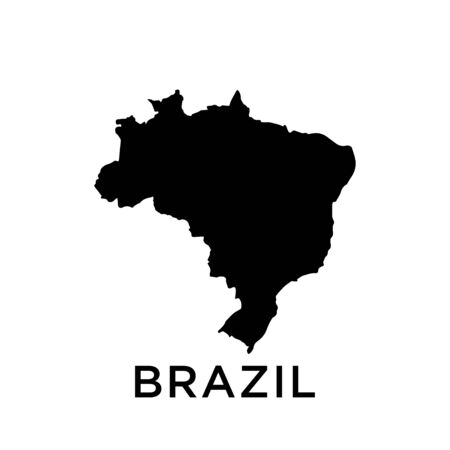 Brazil map vector design template Ilustracja