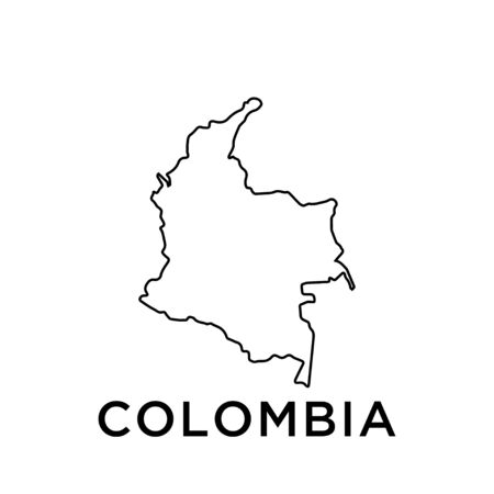 Colombia map vector design template