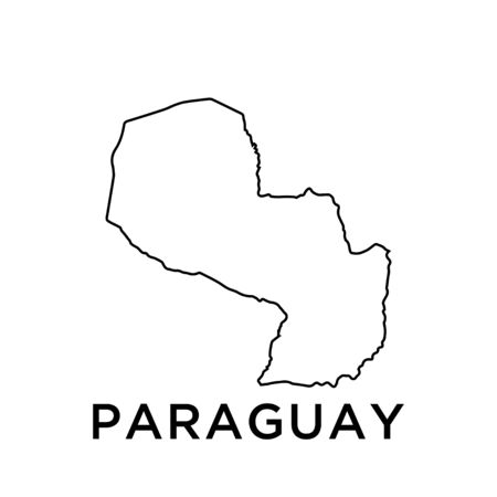 Paraguay map vector design template Ilustracja