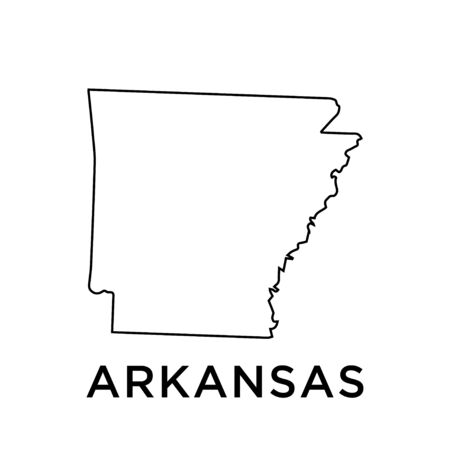 Arkansas map vector design template