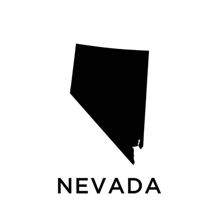 Nevada map vector design template