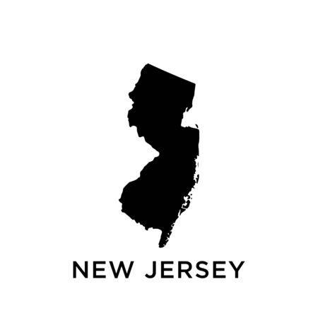 New Jersey map vector design template