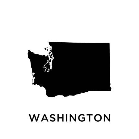 Washington map vector design template