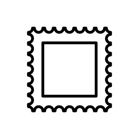 Stamp post icon vector isolated illustration communication signage template design trendy