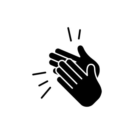 Clapping hand icon vector design trendy