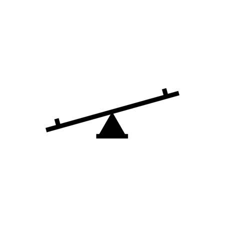 Seesaw icon vector design trendy
