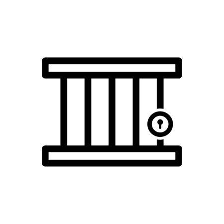 Jail icon vector design trendy