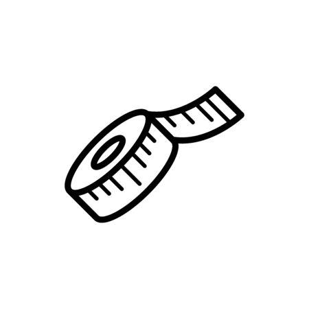 Measure tape icon flat vector template design trendy