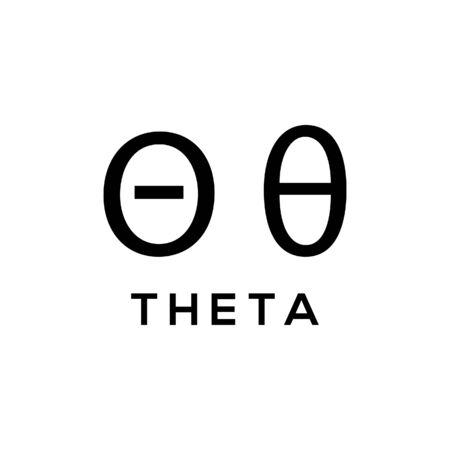 Theta Greek alphabet design trendy