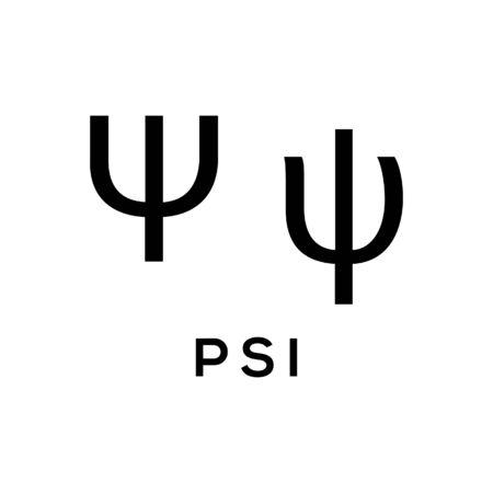 Psi Greek alphabet design trendy  イラスト・ベクター素材