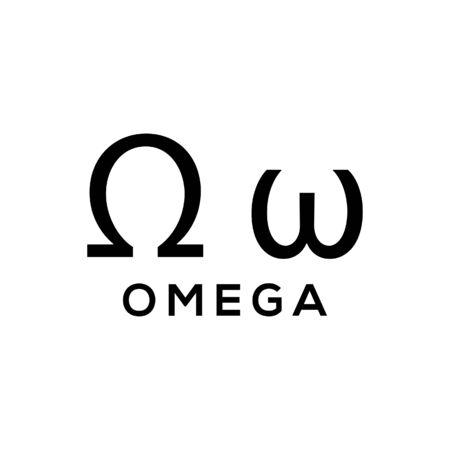 Omega Greek alphabet design trendy
