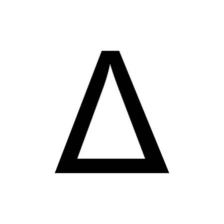 Delta Greek alphabet design trendy