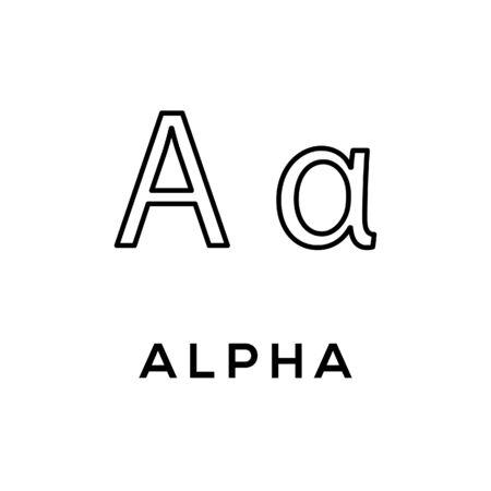 Alpha Greek alphabet design trendy