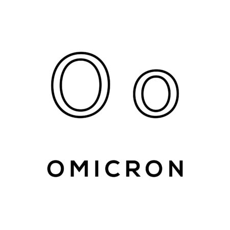 Omicron Greek alphabet design trendy Vetores
