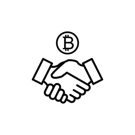 Handshake icon vector illustration template design trendy 일러스트
