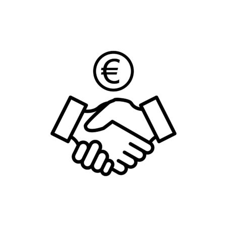 Handshake icon vector illustration template design trendy