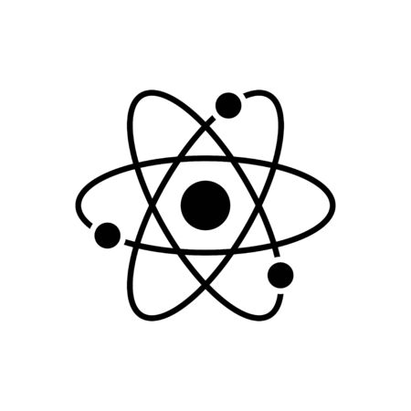 Atom icon flat vector template design trendy Vektoros illusztráció