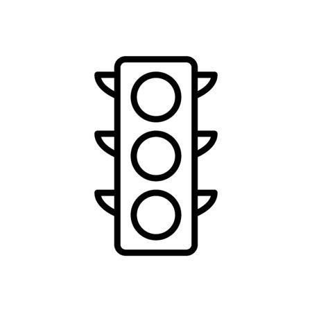 Traffic light icon flat vector template design trendy Vettoriali
