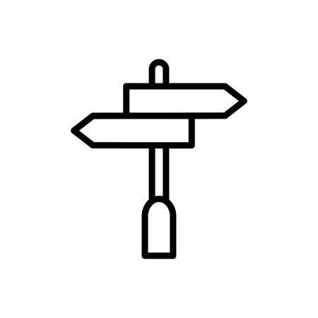 Direction sign icon flat vector template design trendy Ilustração Vetorial