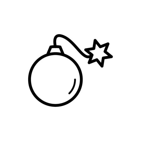 Bomb icon flat vector template design trendy Illustration