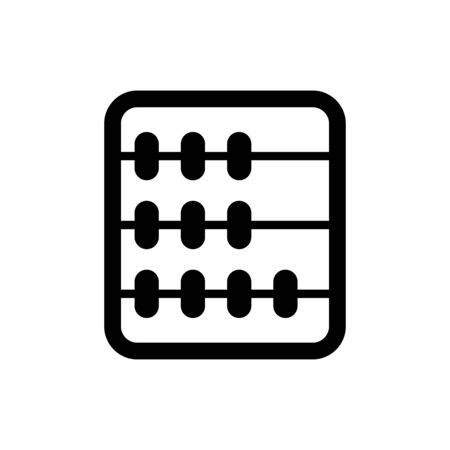 Abacus icon flat vector template design trendy