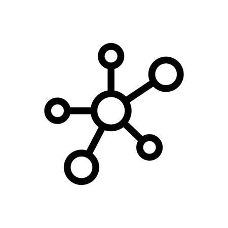 Molecule icon flat vector template design trendy