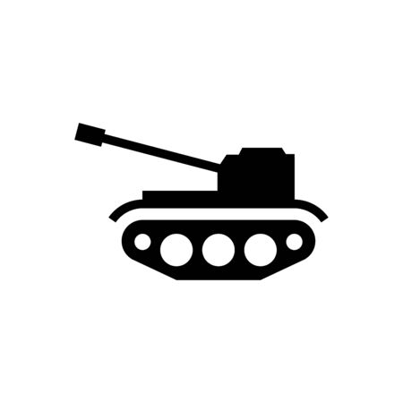 Military tank icon flat vector template design trendy