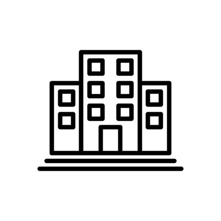 Office building icon flat vector template design trendy
