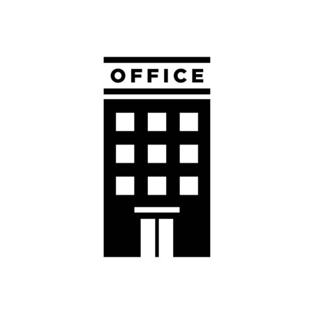 Office building icon flat vector template design trendy Illustration