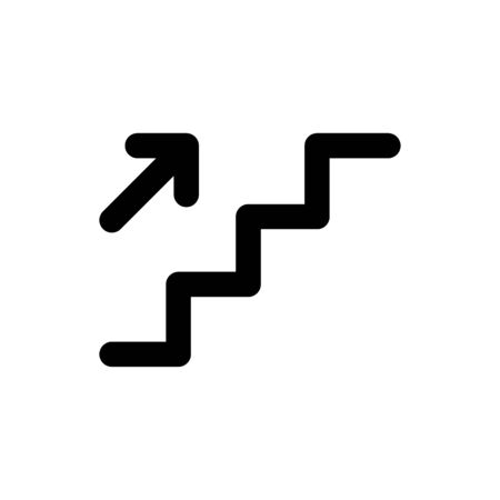 Stair way icon flat vector template design trendy