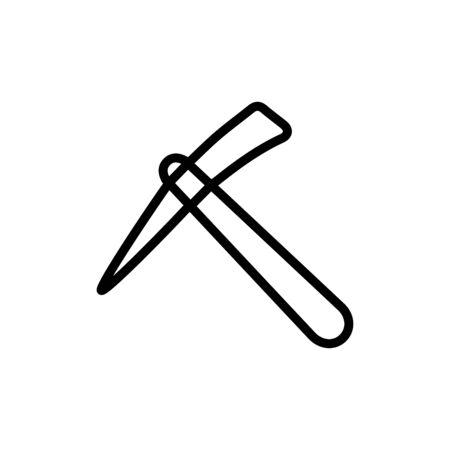 Pickaxe icon flat vector template design trendy Illustration