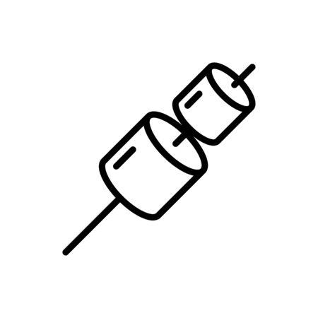 Marshmallow icon flat vector template design trendy