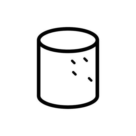 Marshmallow icon flat vector template design trendy Ilustracje wektorowe