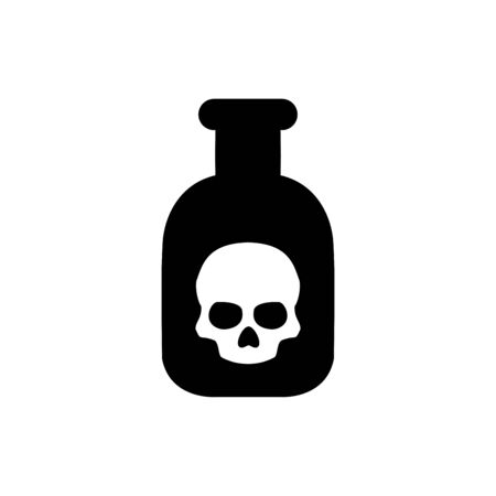 Poison bottle icon flat vector template design trendy