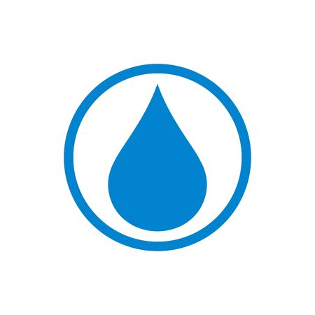 Water drop icon flat vector template design trendy 일러스트