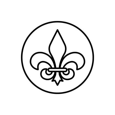 Fleur de lis icon flat vector template design trendy Illusztráció