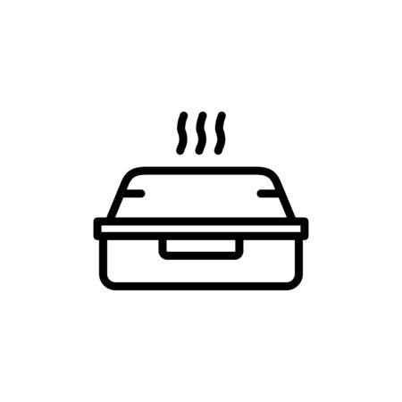 Box icon flat vector template design trendy